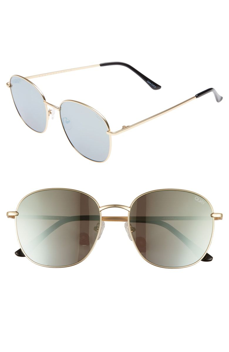 31c05d40e87 Free shipping and returns on Quay Australia Jezabell 57mm Round Sunglasses  at Nordstrom.com. Add some vintage-inspired swagger to your sunny-day look  with ...