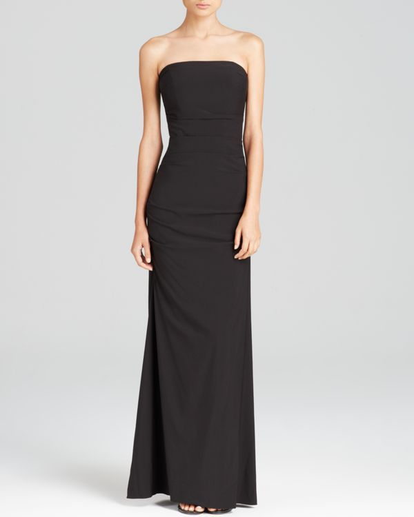Nicole Miller Gown - Strapless Ruched   Products   Pinterest