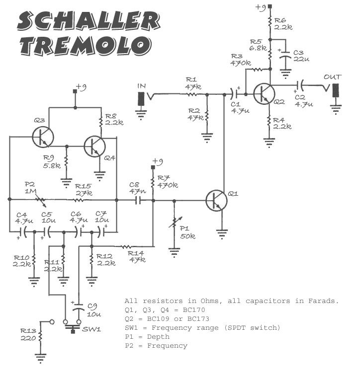 StompBoXed - The Guitar Pedal Builders Repository: Schaller Tremolo on