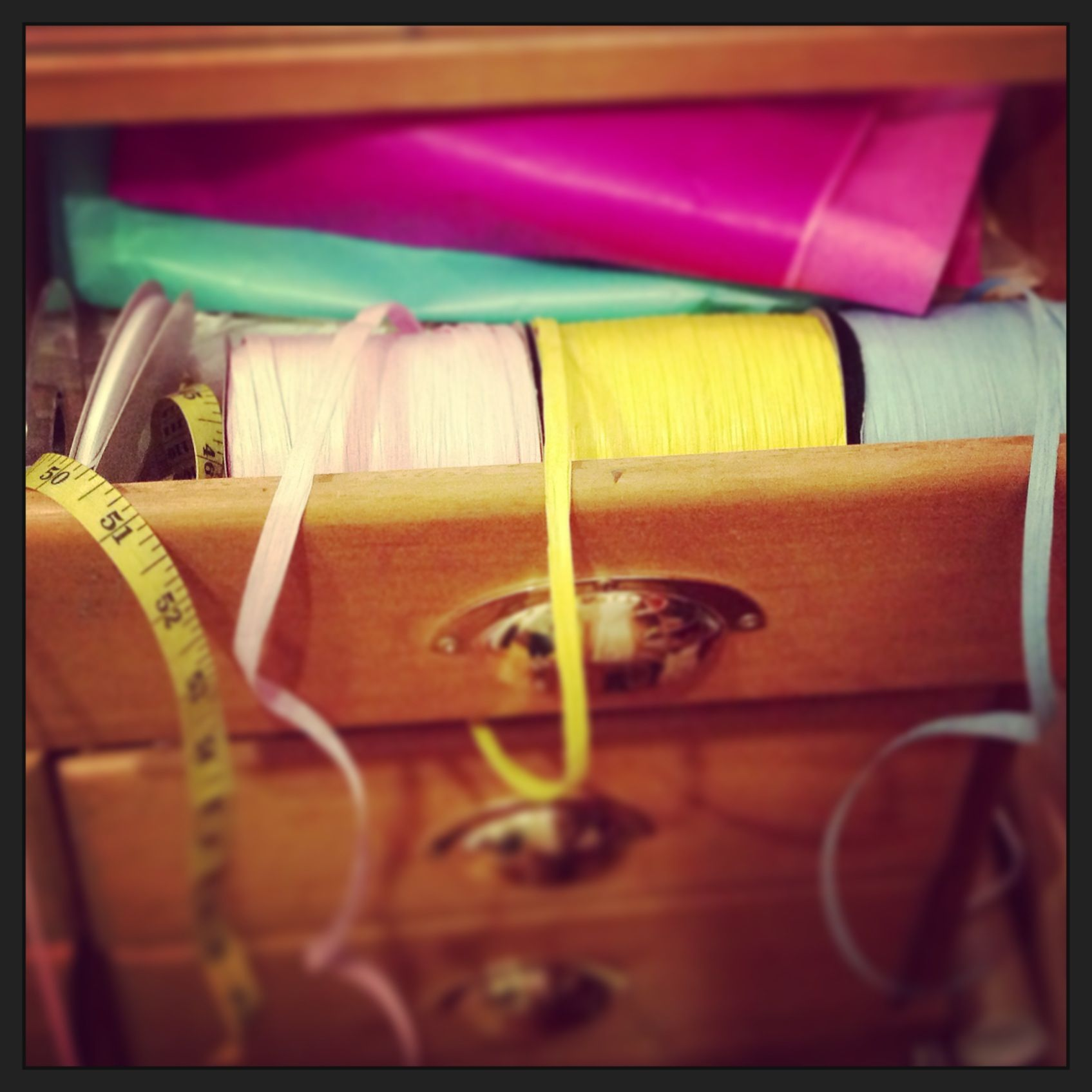 My wrapping drawer in the shop, love to make my things look pretty #carrymehome #shop #london