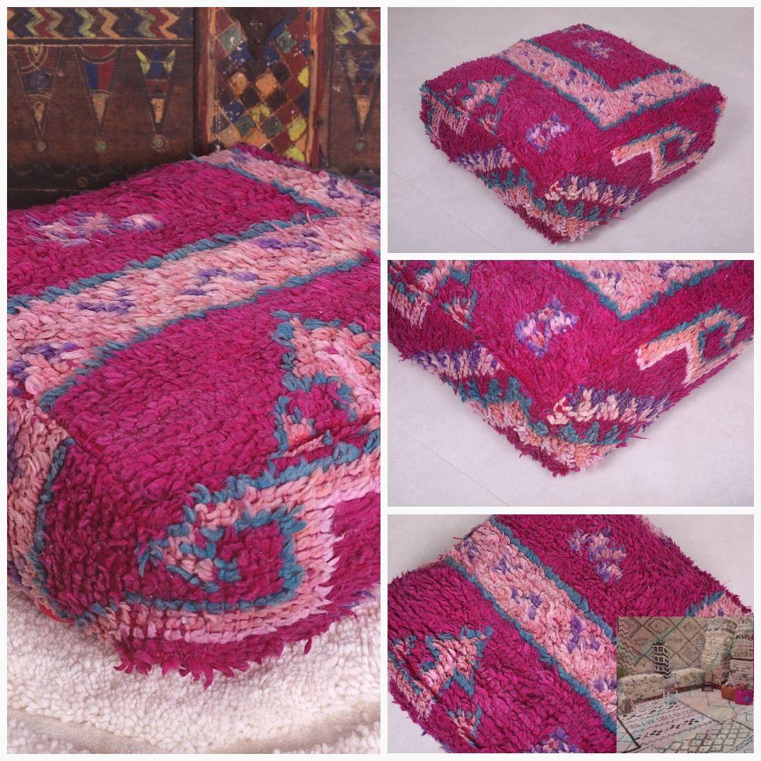 """KILIM PILLOW COVER Ottoman Kilim Pouf 24"""" square Pouf ottoman pillow moroccan pillow handmade Kelim kilim Moroccan pillow, Tribal pillow"""