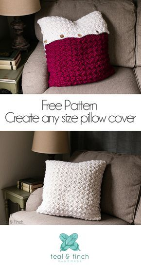 Crochet Pillow Cover Free Pattern Pinterest Super Bulky Yarn