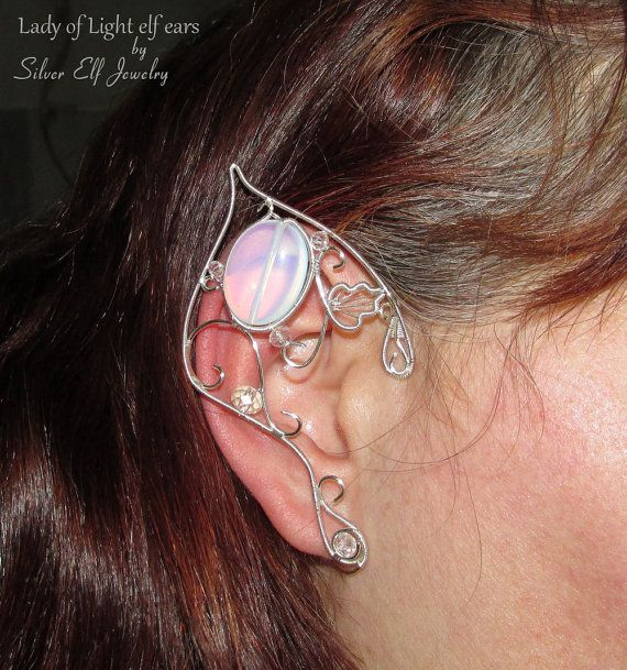 Lady of Light Elf Ears LOTR Elf Ears elf costume elf ear cuff elf ear wrap Cosplay jewelry & Lady of Light Elf Ears LOTR Elf Ears elf costume elf ear cuff ...