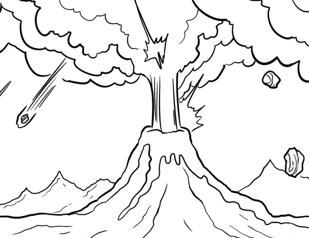 6000 Gambar Gunung Meletus Anak Tk HD Paling Baru - Infobaru