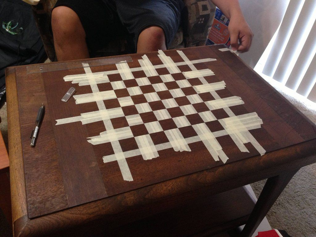 Diy Wood Chess Board How To Make A Chessboard Out Of An Old Table Chess Board