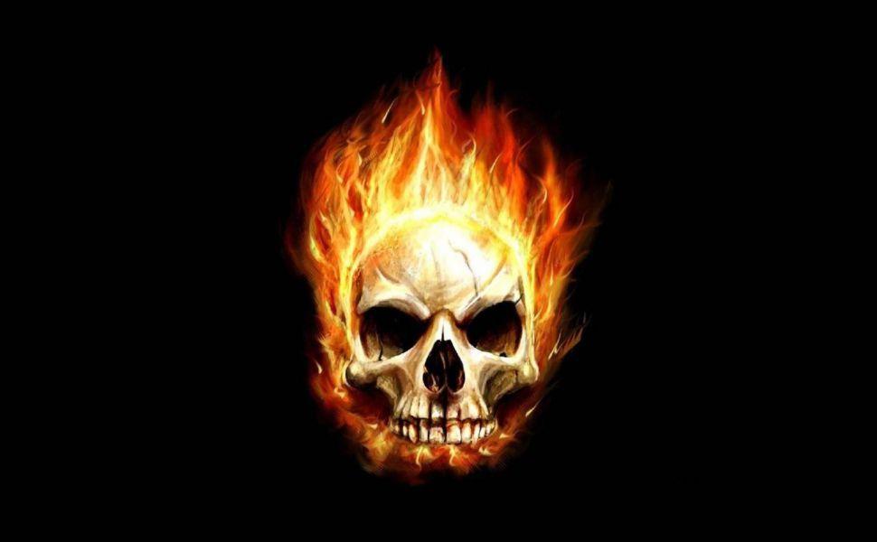 Skull Flames Hd Wallpaper With Images Skull Wallpaper Skull