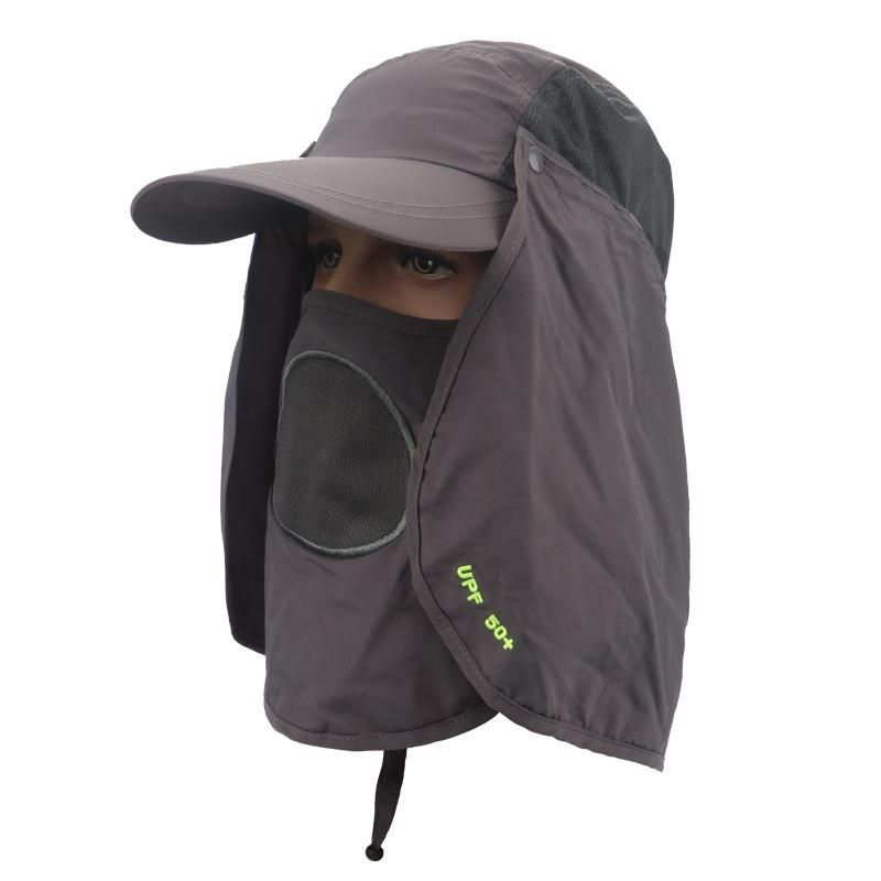3b2441e25fd 360 Degree Sunscreen Unisex Fishing Cap With Mosquito Face Shield ...