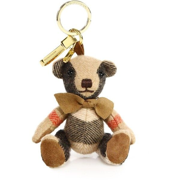 lower price with official shop authentic quality Burberry Thomas House Check Cashmere Bear Keychain (€145) ❤ liked ...
