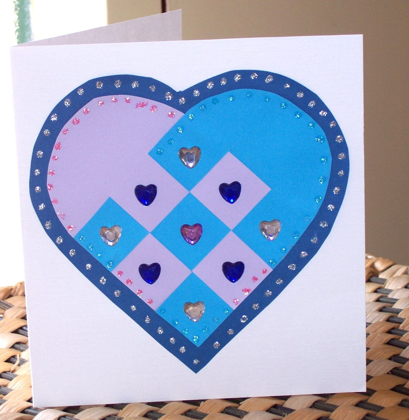 Mothers Dayvalentines Day Woven Heart Card Craft