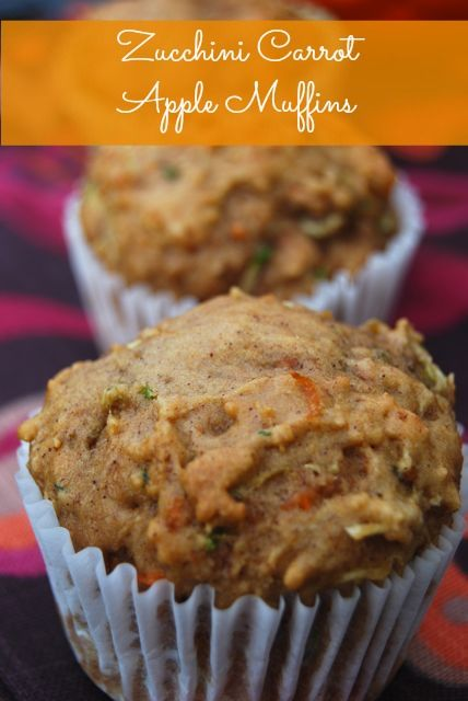 Zucchini Carrot Apple Muffins Recipe Cupcakes And Muffins