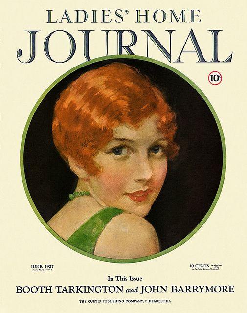 Ladies Home Journal 1927 06 Magazine Cover Magazine Illustration Art Girl