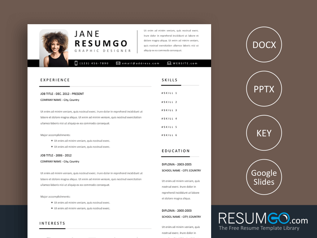 Yet Another Modern Resume Template