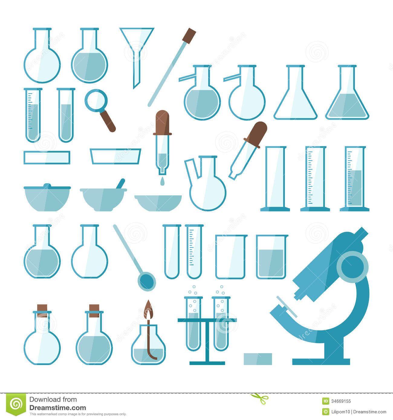 Scientific Experiments Set Up Clip Art