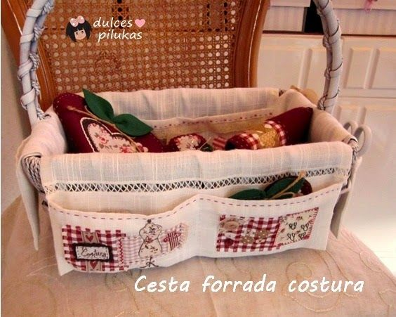 Dulces pilukas reciclar cesta organizador costura con - Cesta de costura ...