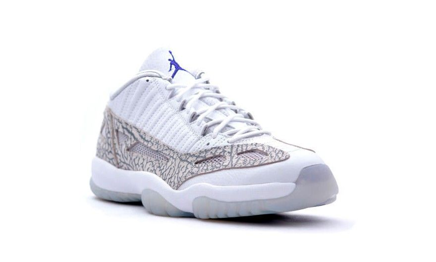 "brand new ed19d fc5f8 AIR JORDAN 11 IE LOW ""COBALT"" COLOR  WHITE COBALT-ZEN GREY-CEMENT GREY  RELEASE DATE  08 01 15 PRICE   170  LaceMeUpNews"