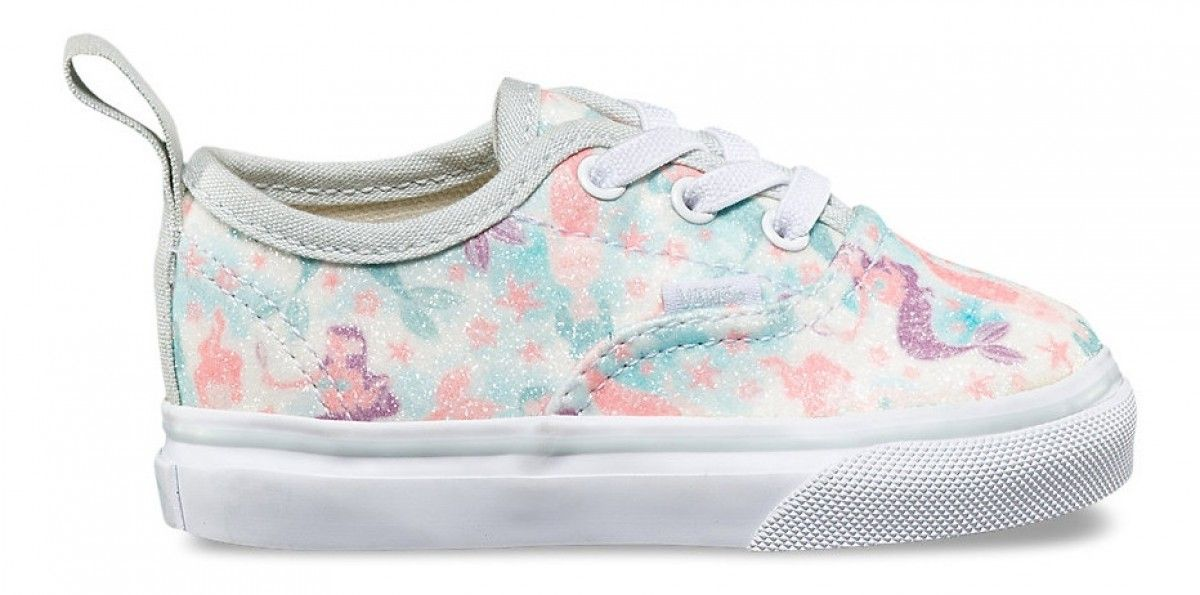 Vans Toddler Authentic Elastic Lace (Mermaid) Ice Flow Glitter ... d566ae3f3