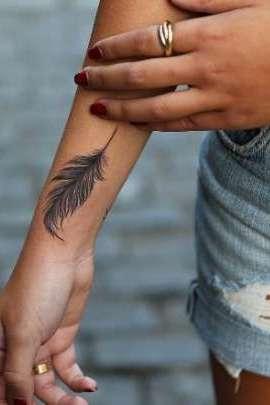 Brilliant Wrist Tattoos For Girls All Designs Wrist Tattoos Girls Tattoos For Women Feather Tattoos