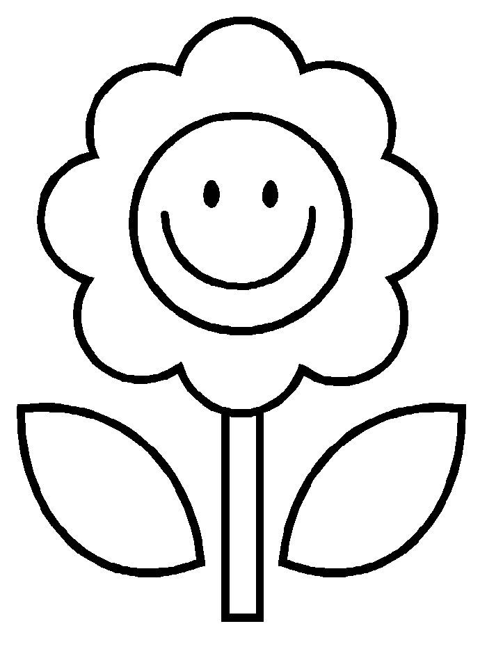 Flower Simple Coloring Page Easy Pages