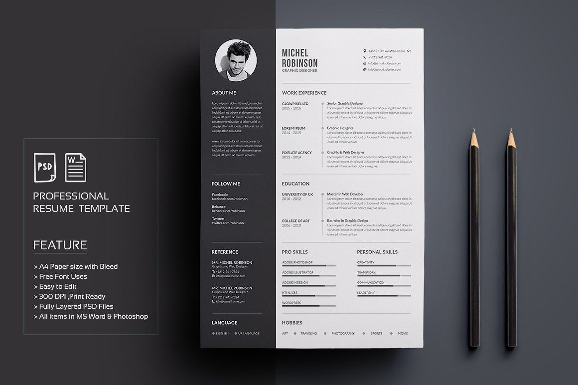 Graphic Design Resume Template 50 Creative Resume Templates You Won't Believe Are Microsoft Word