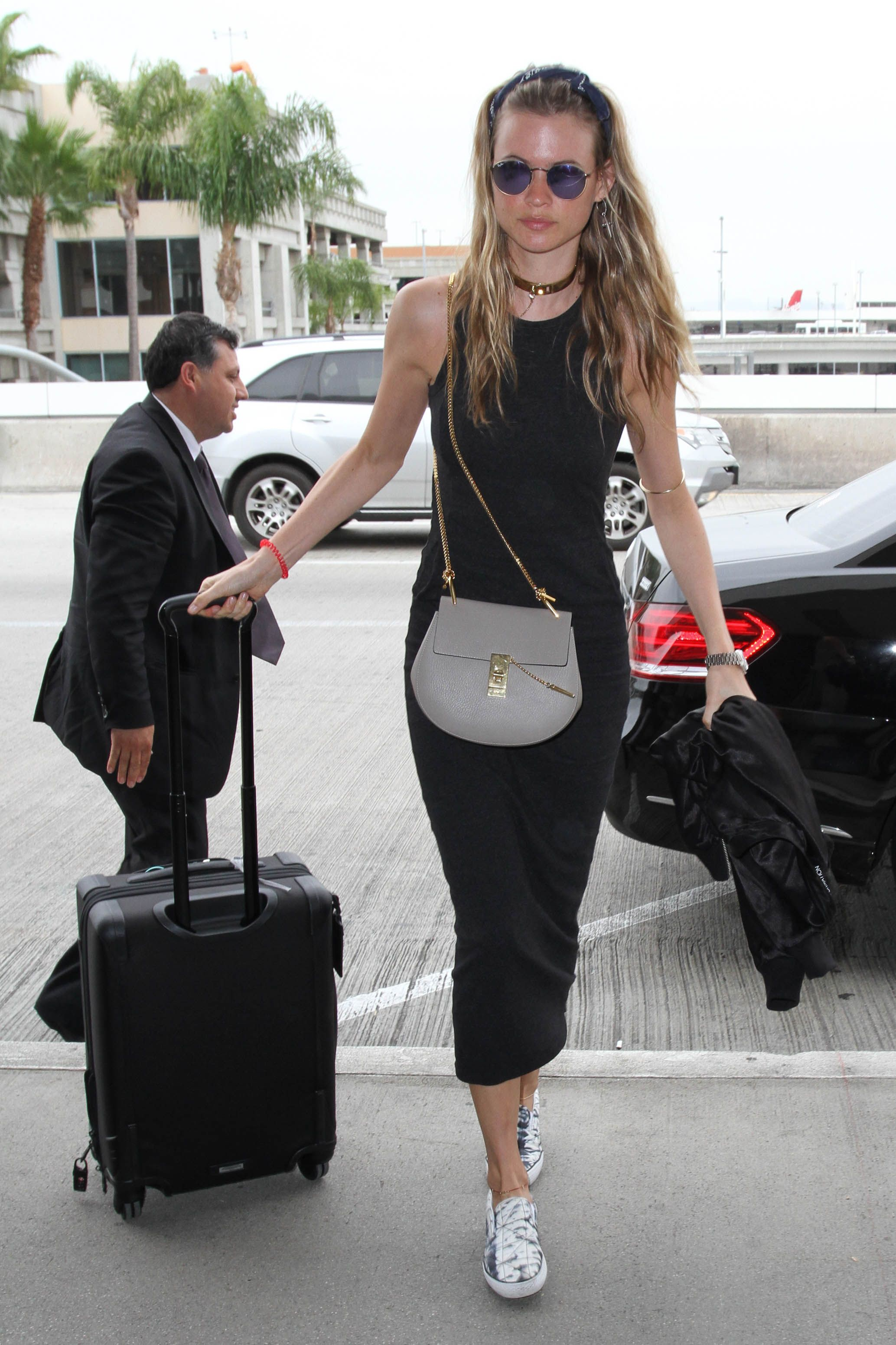 The Best In Celebrity Airport Style Metallic Sneakers Behati Prinsloo And Vs Angels