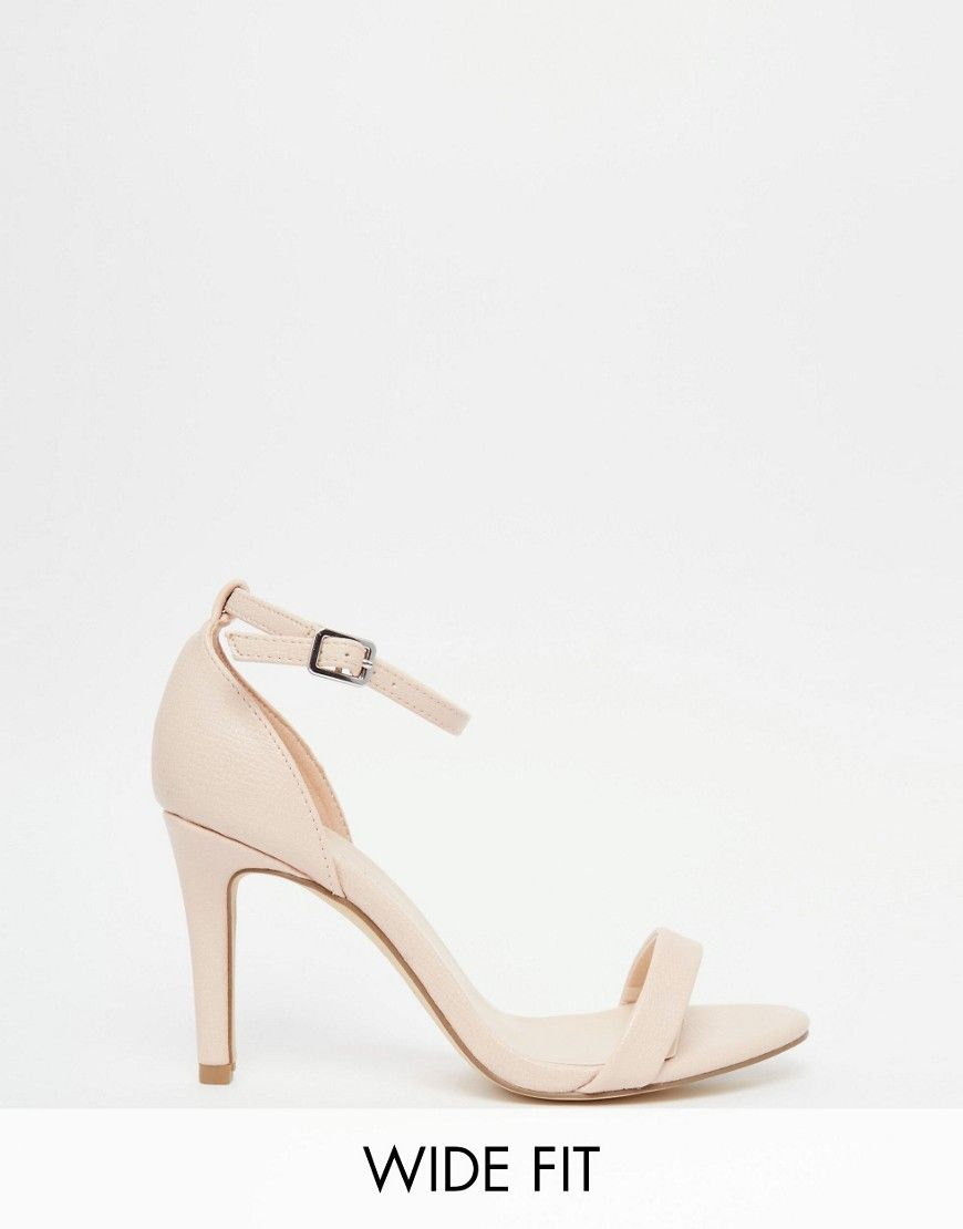 d54a0955313 Image 1 of New Look Wide Fit Barely There Heels