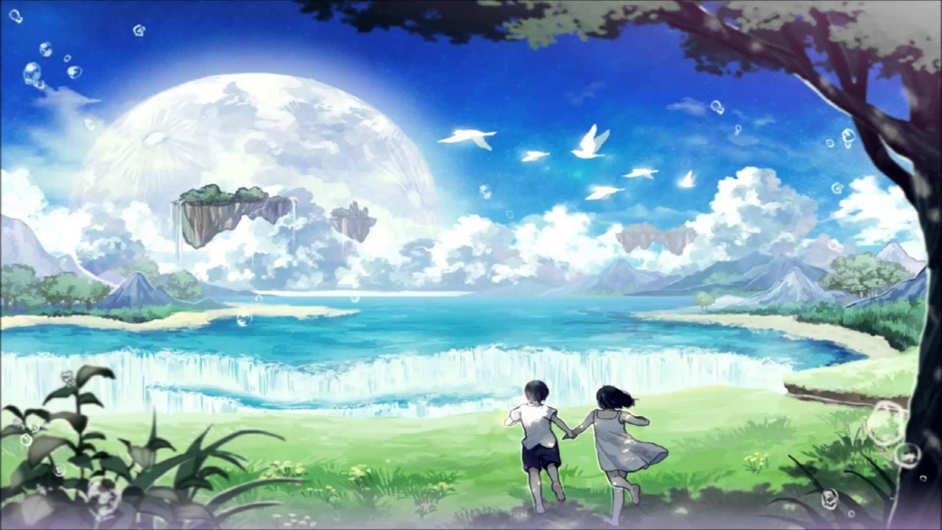 Phone call anime scenery anime background
