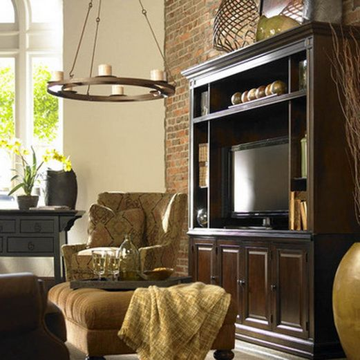 23 Elegant Living Room With Exposed Brick Wall: 50 Best Home Entertainment Center Ideas