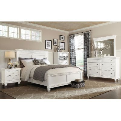 White 6 Piece Queen Bedroom Set - Essex RC Willey Furniture Store