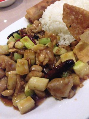 Kung Pao Chicken Lunch Special At Great Wall Chinese Restaurant Chicken Lunch Lunch Specials Chinese Restaurant