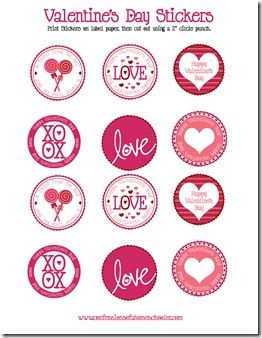graphic relating to Valentine Stickers Printable called No cost Printable Valentines Working day Stickers Valentines Working day
