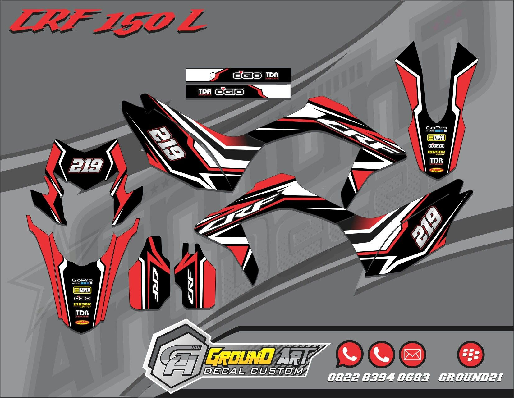 Honda Xr 150 Body Sticker Design Custom Sticker