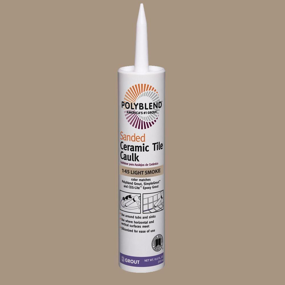 Custom Building Products Polyblend 145 Light Smoke 10 5 Oz Sanded Ceramic Tile Caulk Pc14510s The Home Depot Ceramic Tiles Caulk Loose Tile