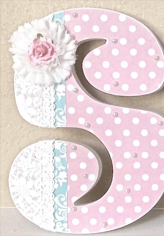Custom Nursery Letters Baby Decor Wooden
