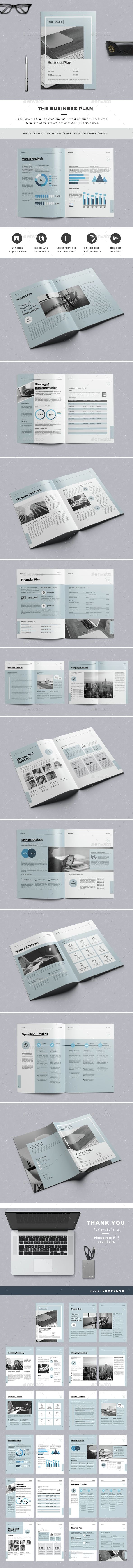 The Business Plan Business Planning Template And Business - Business plan template indesign