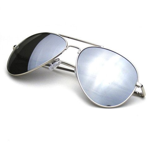 Bright light gives me mega-headaches, so big dark shades make me happy. These are really comfy, and I've always liked the look, so I wear them a lot.  Polarized Full Mirror Silver Aviator Sunglasses