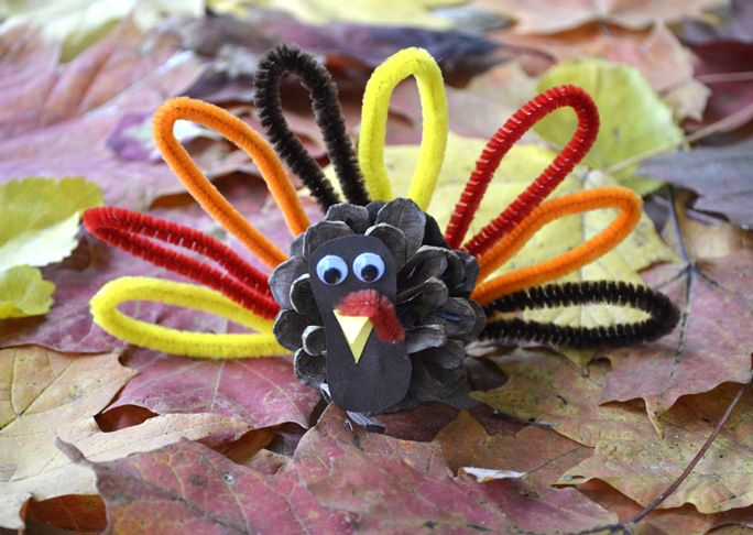 Pine Cone Craft Ideas For Kids Part - 21: Here Is A Super-simple Pinecone Turkey Craft You Can Make With Kids For  Fall Or Thanksgiving. This Is A Low-cost DIY, Especially If You Can Find  The Pineco