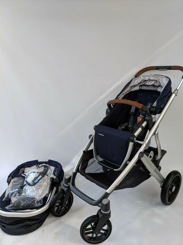 UPPABABY vista stroller ONLY Taylor/Indigo blue UPPAbaby