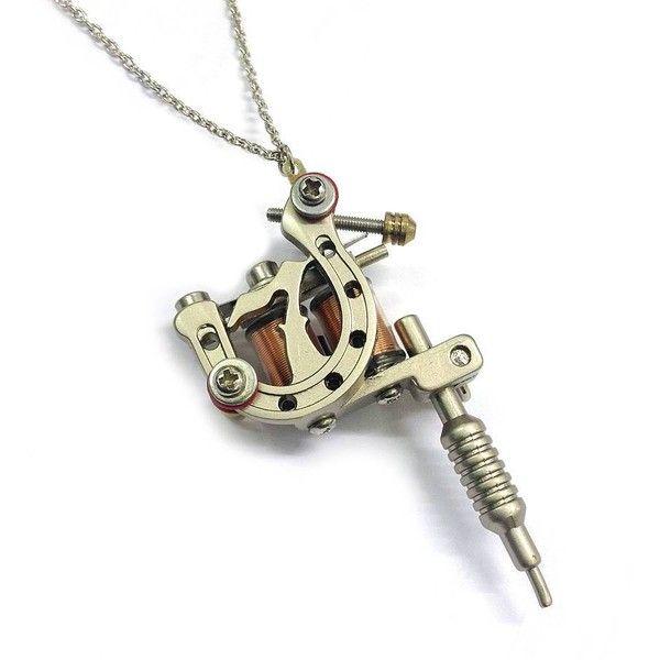 Hannah makes things miniature tattoo machine necklace 23 liked hannah makes things miniature tattoo machine necklace 23 liked on polyvore featuring jewelry aloadofball Gallery