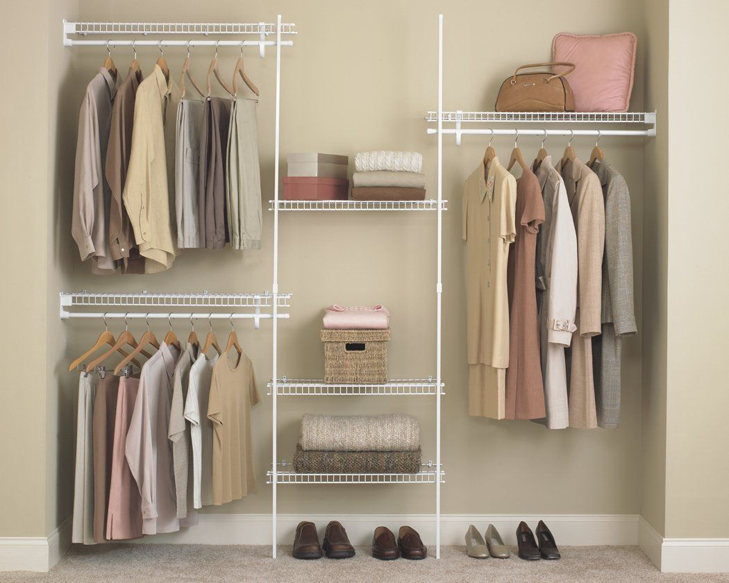 Inexpensive Closet Maid Shelving With SuperSlide 5 Ft. To 8 Ft. Metal White  Closet