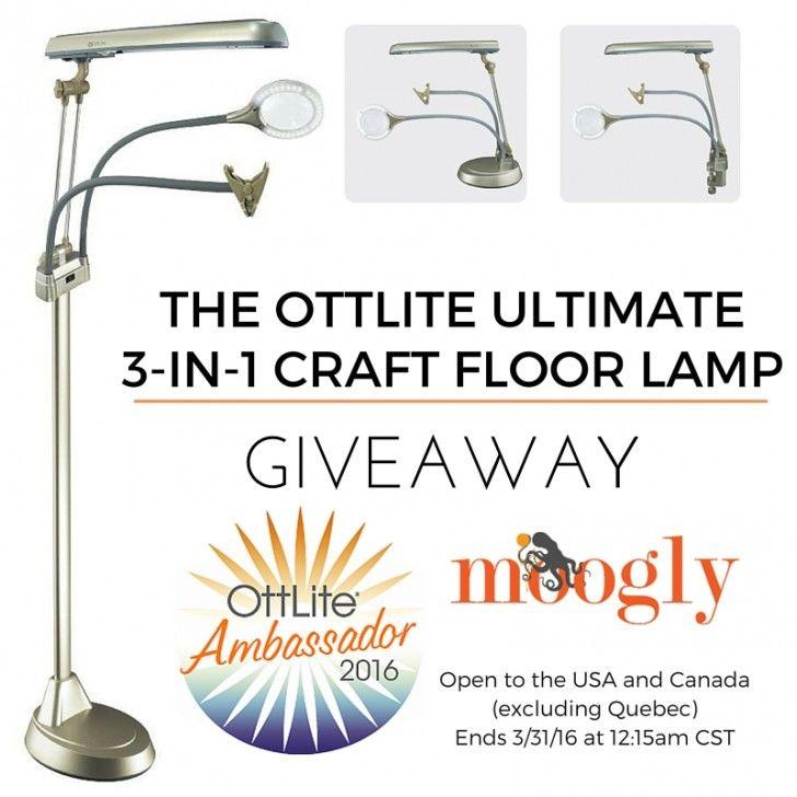 Ottlite Ultimate 3 In 1 Craft Floor Lamp Giveaway On Moogly Moogly Crafty Hobbies Giveaway