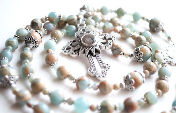 88b8ae2cfc0f5 Surf and Sand Inspired Catholic Rosary with by TheBlessedBead ...