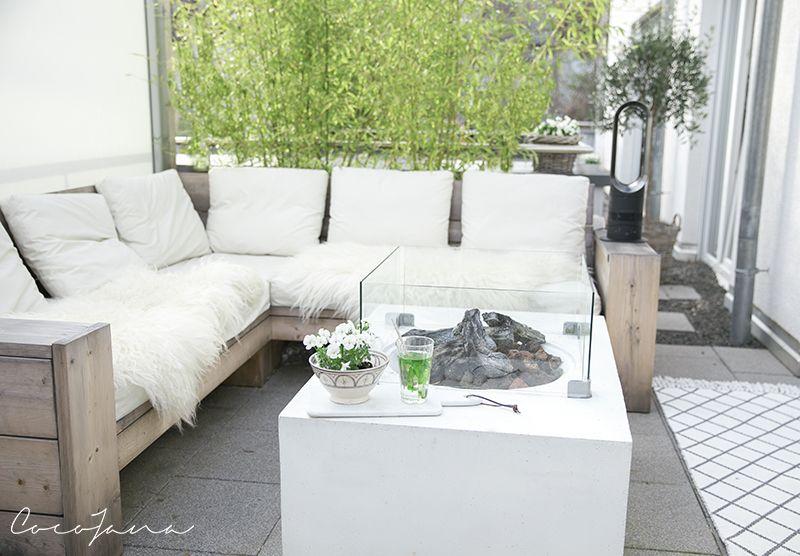 Loungemobel Und Gaskamin Wohnkonfetti Kleine Terrasse Gestalten Terrasse Gestalten Terrasse Lounge