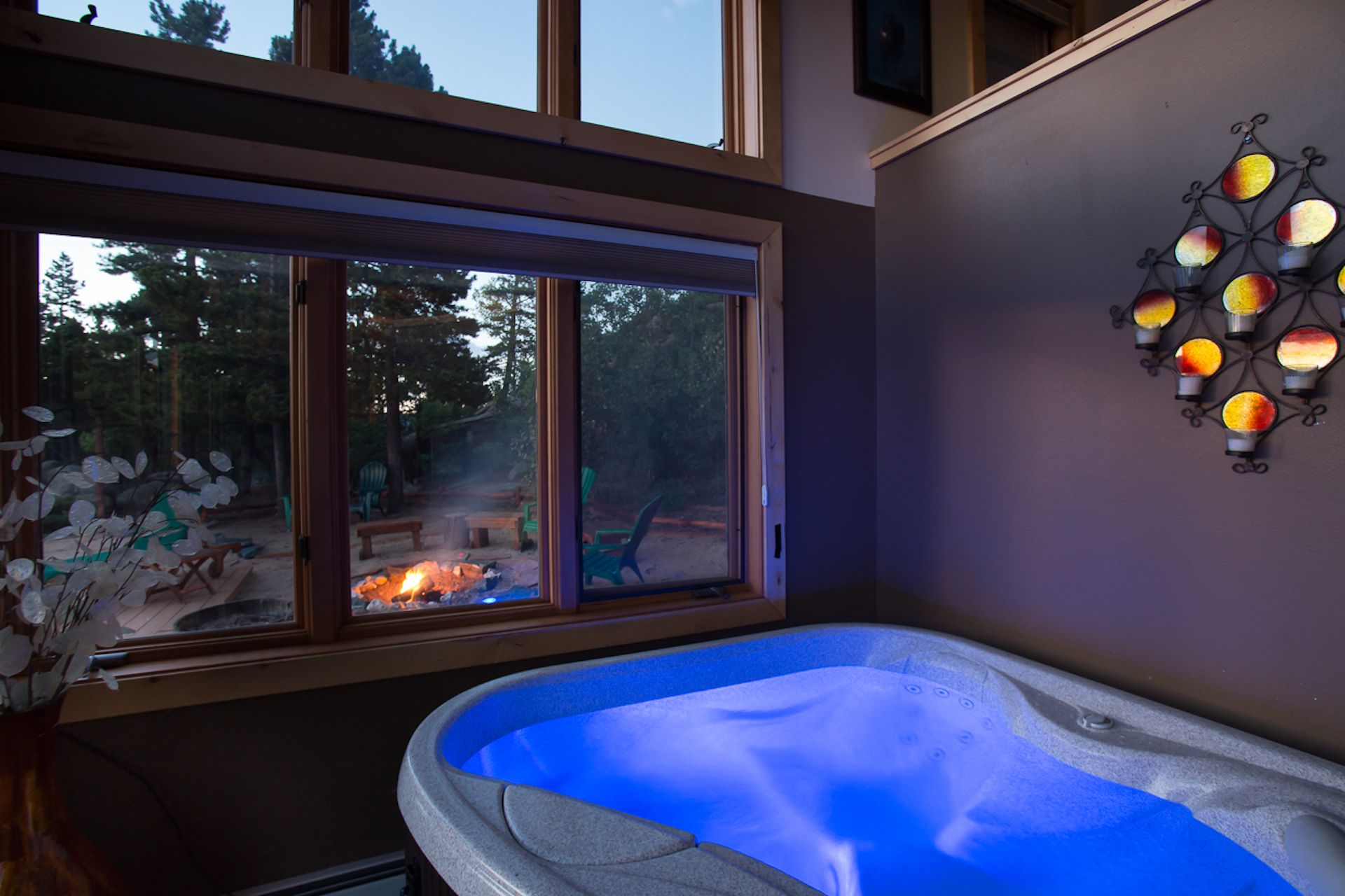 Hot Tub Indoors Indoor Hot Tub Romantic Cabin Ranch Vacations