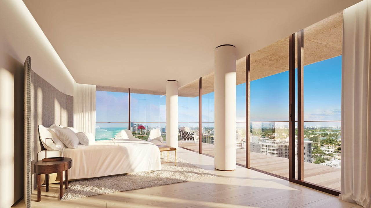 A High Rise Miami Apartment With Endless Ocean Views Miami Apartment Luxury Apartments Ocean View Apartment