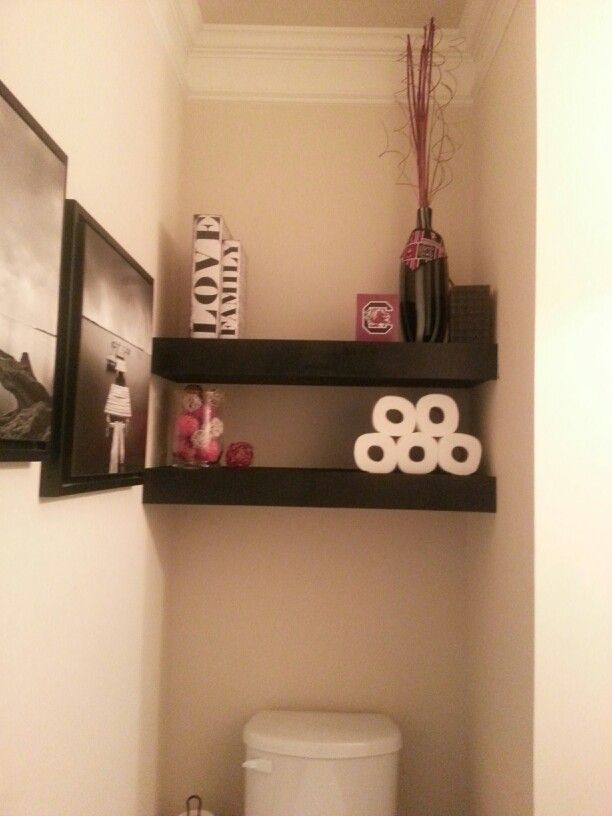 Pin By Jennifer Sexton On In My Own Home Powder Room Small Room Shelves Townhome Decorating