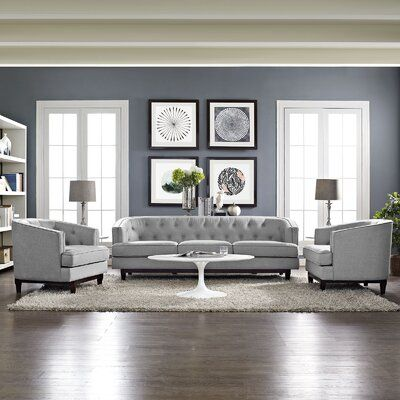 Ivy Bronx Thomaston 3 Piece Living Room Set | Wayfair