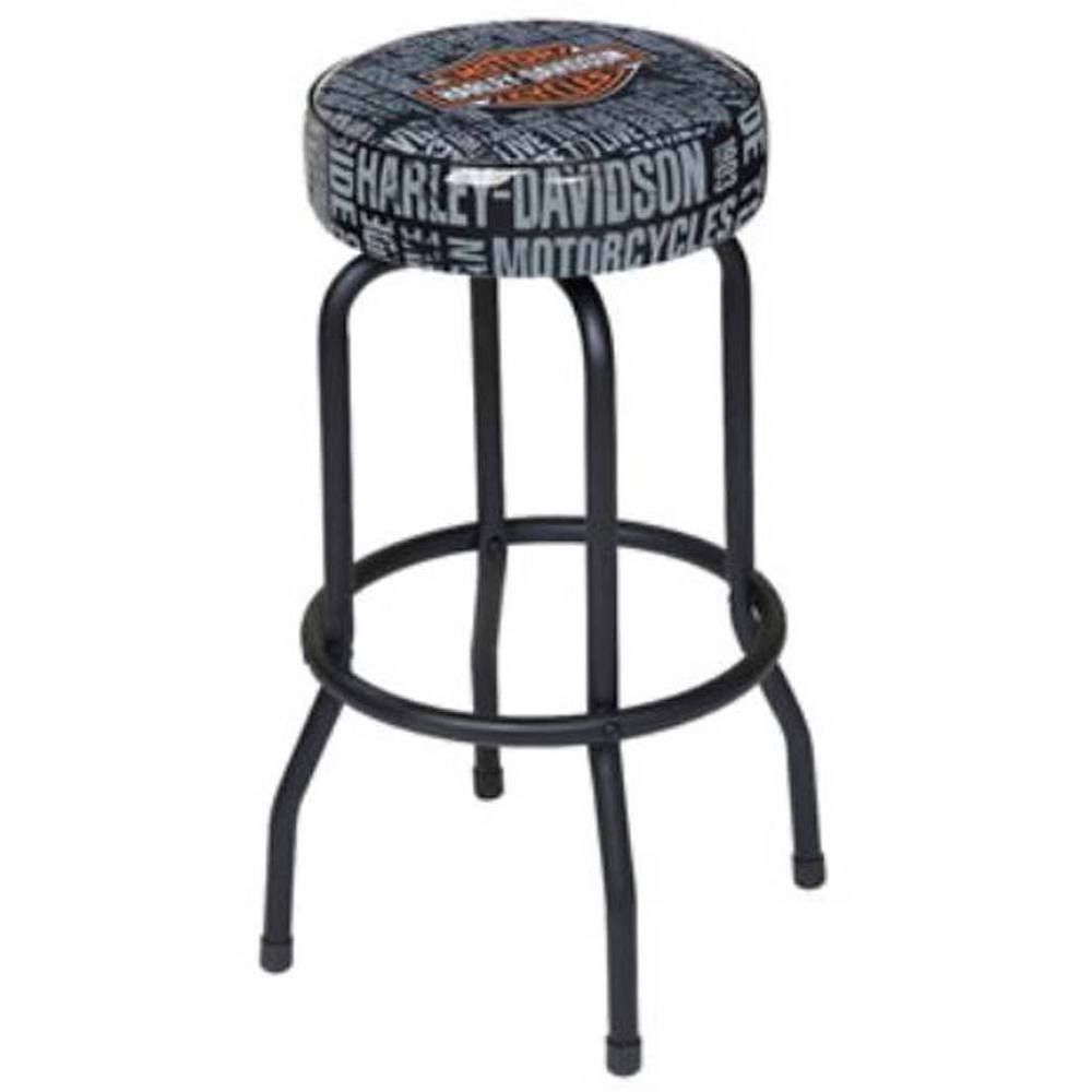 Astounding Harley Davidson Bar Shield Repeat Bar Stool Hdl 12127 Squirreltailoven Fun Painted Chair Ideas Images Squirreltailovenorg