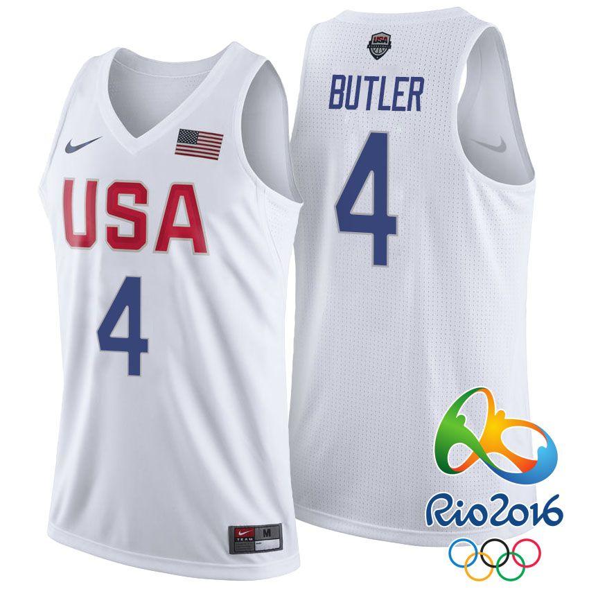 Rio 2016 Olympics USA Dream Team #4 Jimmy Butler White Basketball ...