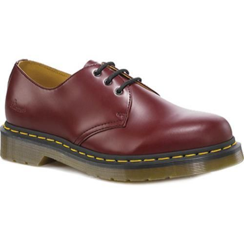 Dr. Martens Back to Basics 1461 3 Eye Gibson Oxford Red Smooth