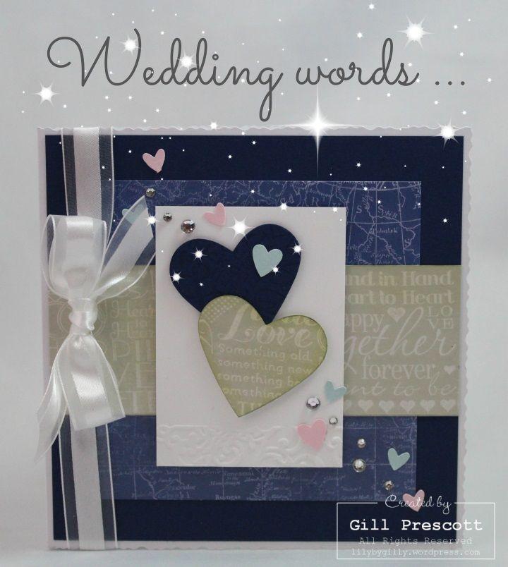 Wedding words anniversary card …   Wordpress, Cards and Weddings
